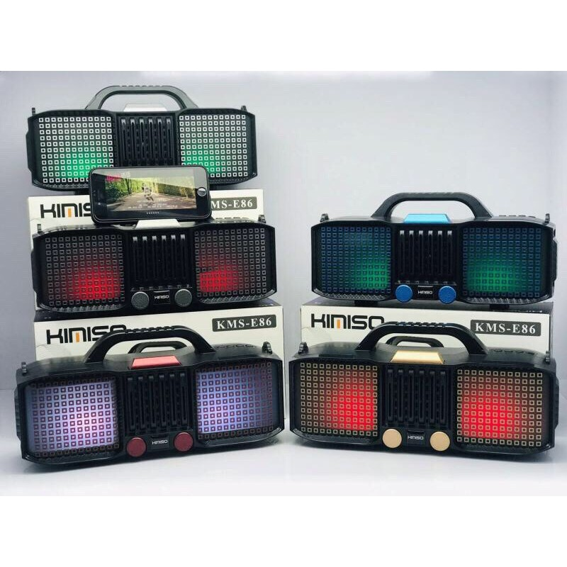 SPEAKER BLUETOOTH KMS-E86 FOR MP3&MOBILE&MICRO SD&USB LIGHT COLOR ,Speakers