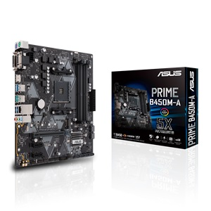 MB ASUS AMD PRIME B450M-A AM4 RGB DDR4 3200MHz M.2 HDMI SATA 6Gbps and USB 3.1+CPU AMD RYZEN 5 3600 BOX 6CORE 12THREAD 3.6GHZ UP TO 4.2GHZ ,Desktop Mainboard