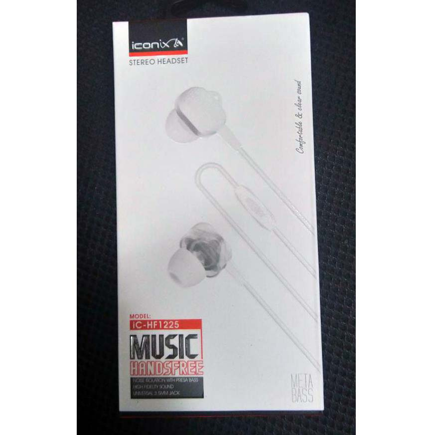 EARPHONE I CONIX FOR IOS/ANDROID WITH MIC HIGH QUALITY IC-HF 1225 ضغط ,Smartphones & Tab Headsets