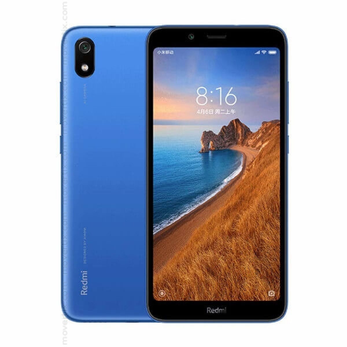 MOBILE PHONE XIAOMI 5.45 OCTA CORE 1.4GHZ 2GB 16GB DUAL SIM REDMI 7A BLUE  كفالة ذهبية ,Android Smartphone