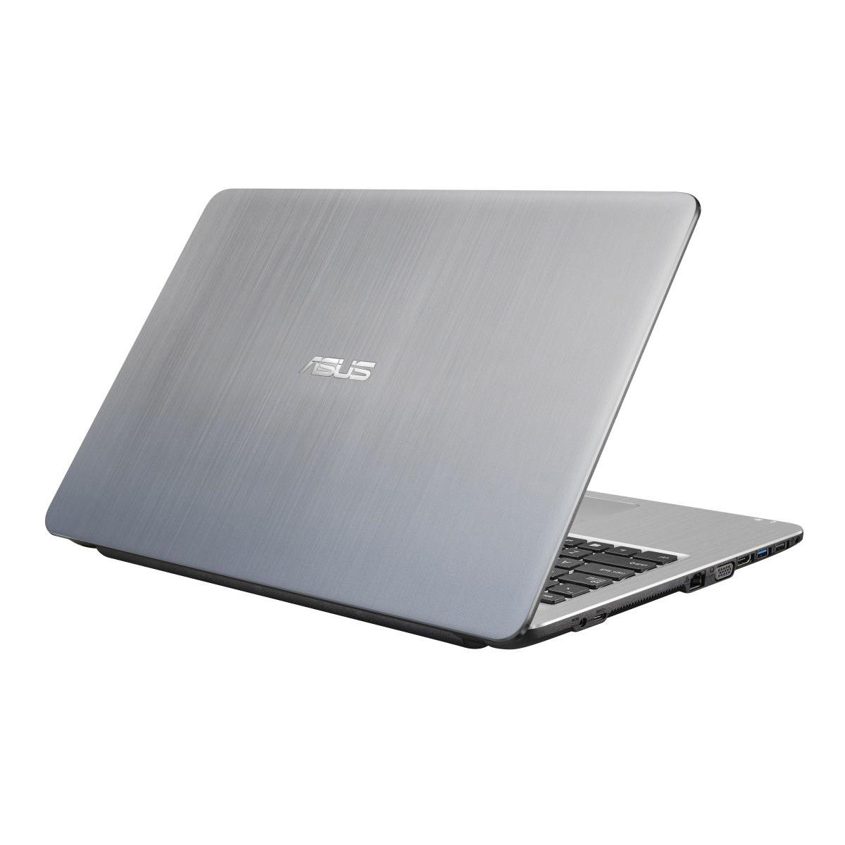 NOTEBOOK ASUS F504UA-GQ1795 I3 7020U 2.30GHz 3M 4G HD 1T VGA INTEL 15.6 SILVER ,Laptop Pc