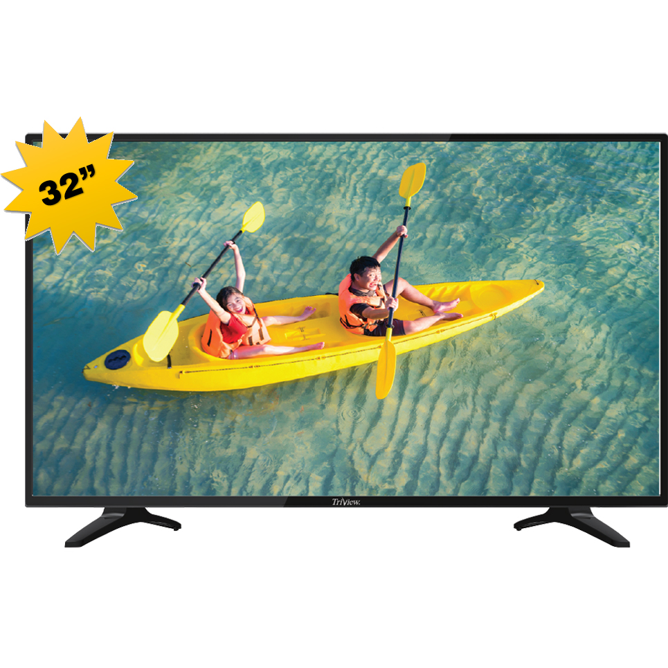 MONITOR D-LED TV 32 TRIVIEW SMART 32733273VDSPO 220V HD MICRO SD+HDMI BLACK+قاعدة جدارية ,LED