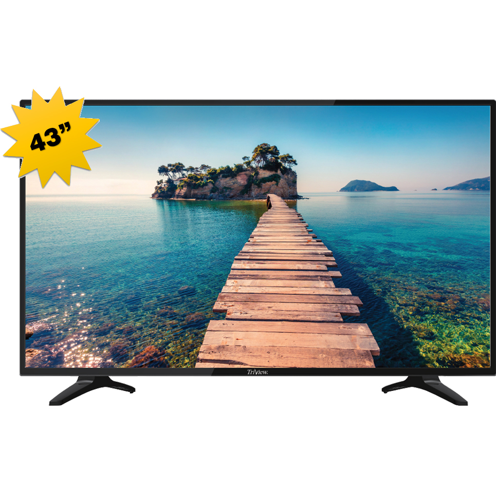 MONITOR LED TV 43 TRIVIEW 437VDO6P0 SMART FULL HD BLACK+قاعدةجدارية ,LED
