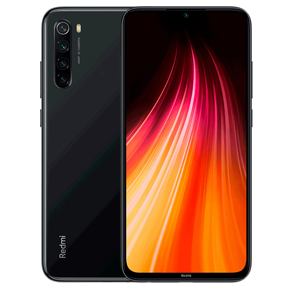 MOBILE PHONE XIAOMI 6.3 OCTA CORE 1.8GHZ 4GB 64GB DUAL SIM REDMI NOTE 8 - BLACK كفالة ذهبية ,Android Smartphone