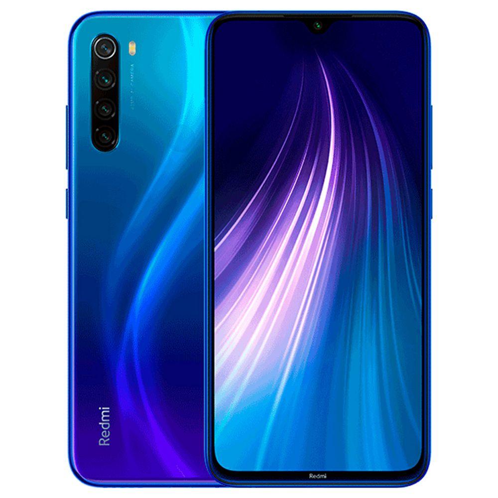 MOBILE PHONE XIAOMI 6.3 OCTA CORE 1.8GHZ 4GB 64GB DUAL SIM REDMI NOTE 8 - BLUE كفالة ذهبية ,Android Smartphone