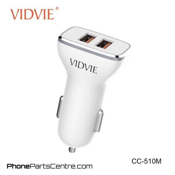 CAR CHARGER VIDVIE 2PORT FOR SMARTPHONE OR TABLET 5V-2.4A CC510 شاحن سيارة مع كبل ,Smartphones & Tab Chargers