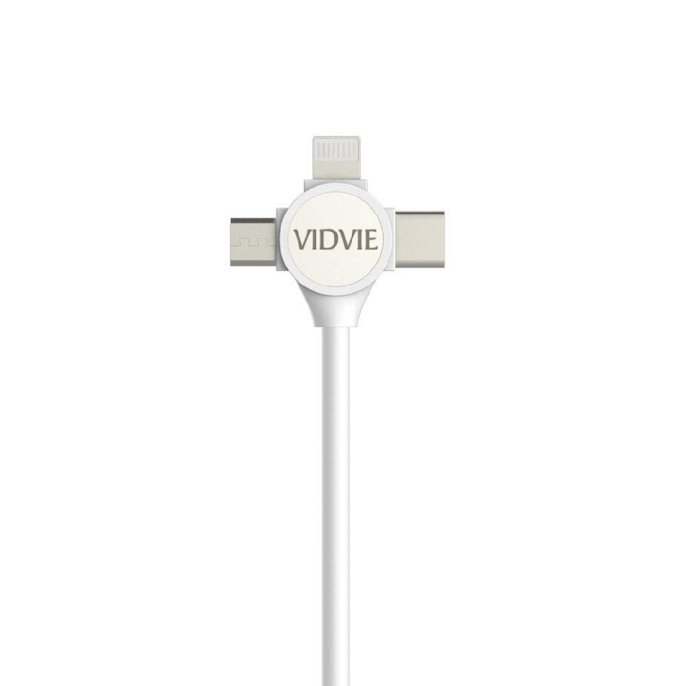 CABLE USB CHARGE 3 IN 1 MICRO & TYPE C & IOS 120CM VIDVIE CB431 كبلة ثلاثية شحن+داتا ,Other Smartphone Acc
