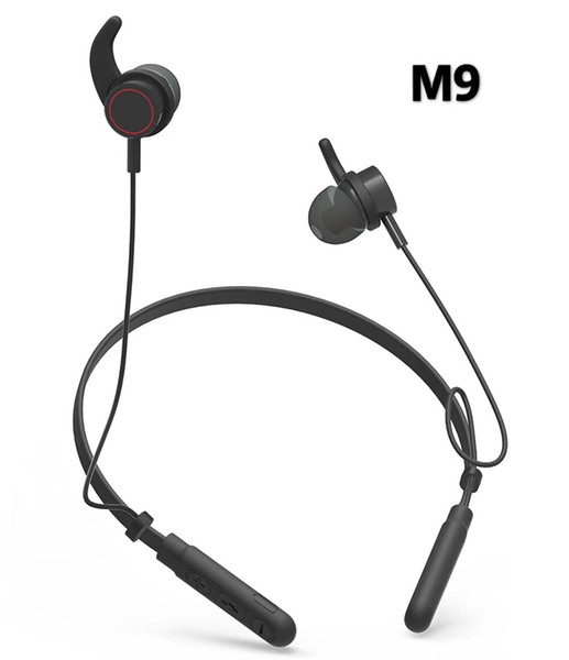 HEADSET BLUETOOTH BEHIND THE NECK SPORT HIGH QUALITY  M9 ,Headphones & Mics