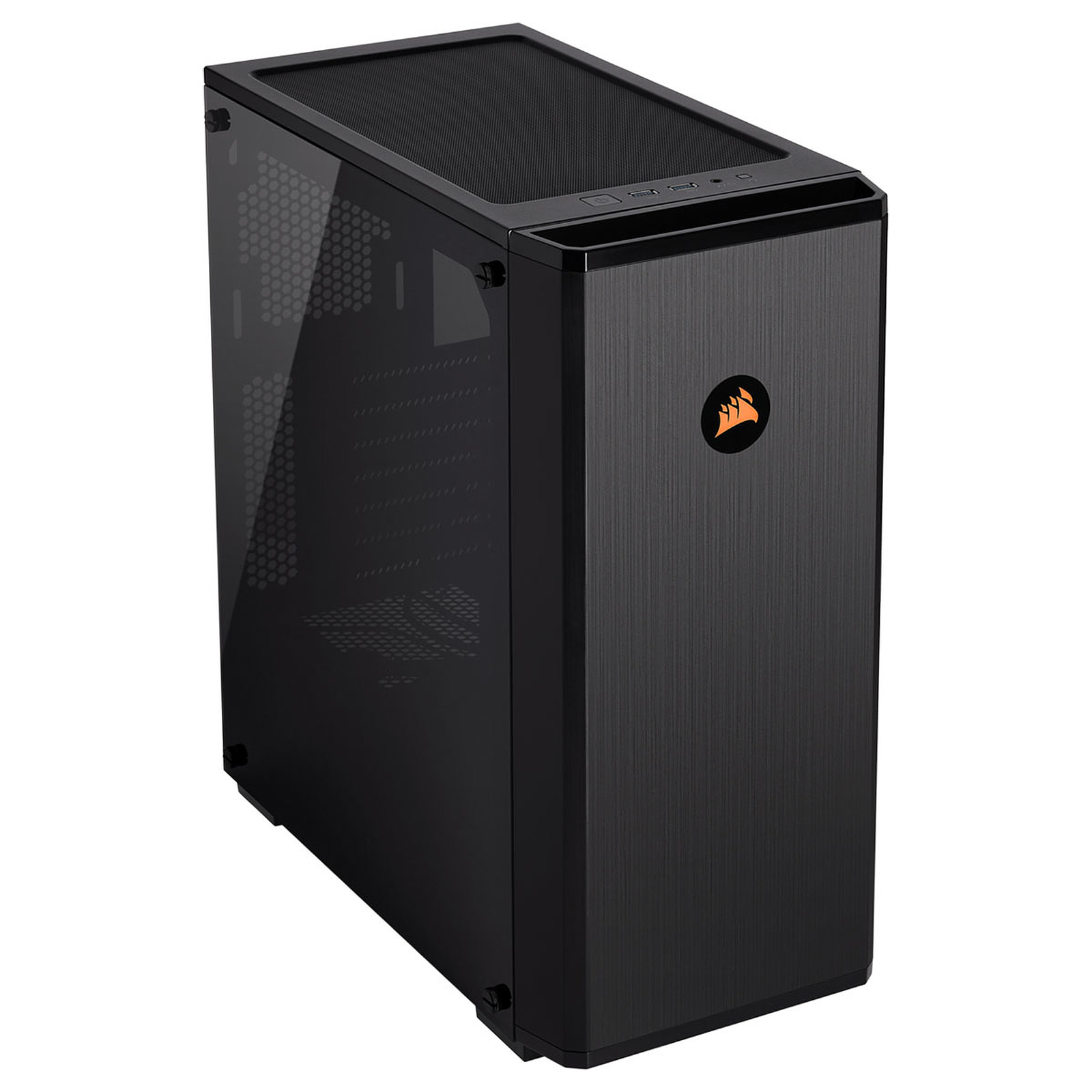 CASE CORSAIR GAMING MIDDLE TOWER 175R RGB CARBIDE SERIES TEMPERED GLASS BLACK CC-9011171-WW, Case & Power Supply