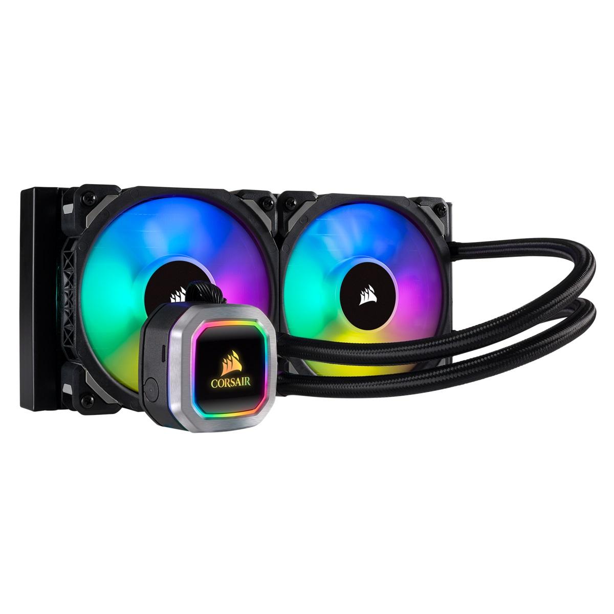 LIQUIDE CPU COOLER CORSAIR H100I PLATINUM FOR AMD & INTEL HYDRO SERIES RGB 240mm CW-9060039-WW ,Fan Cooler