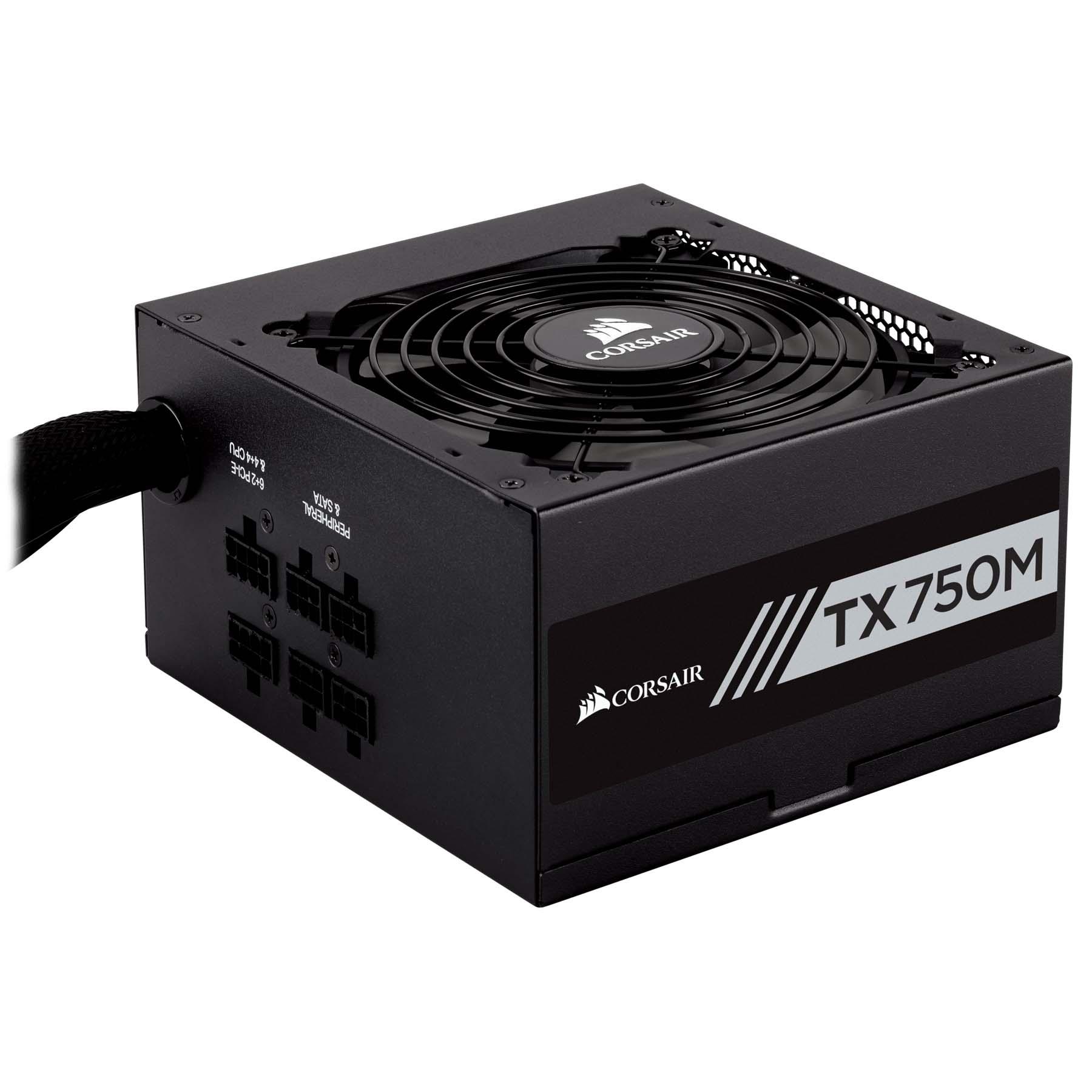 POWER SUPPLY CORSAIR TX750M-750 WATT 80 PLUS GOLD 24PIN LGA PSU ,Case & Power Supply