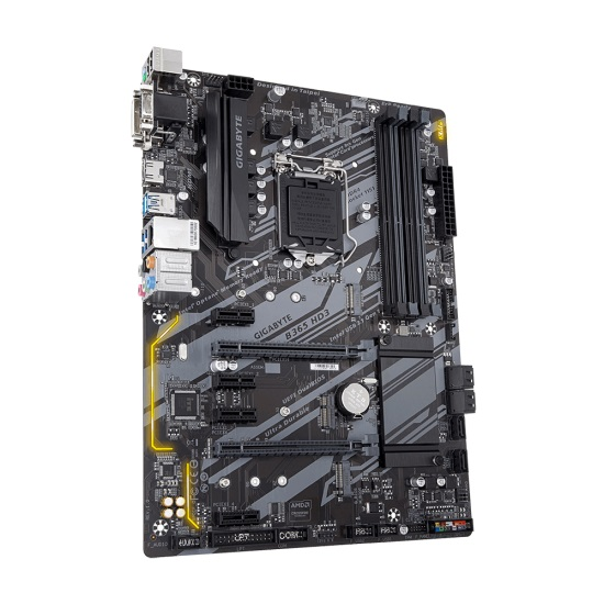 MB GIGABYTE B365 HD3 INTEL SOK 1151 SUPPORT FOR 9th & 8th GENERATIION /DDR4 + SB +LAN 25KV+ USB3 + USB/ 7COLORS RGB LED ,Desktop Mainboard