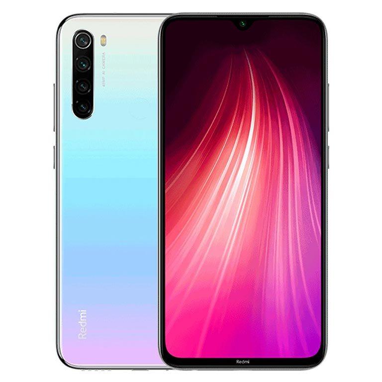 MOBILE PHONE XIAOMI 6.3 OCTA CORE 1.8GHZ 4GB 64GB DUAL SIM REDMI NOTE 8 - WHITE كفالة ذهبية ,Android Smartphone