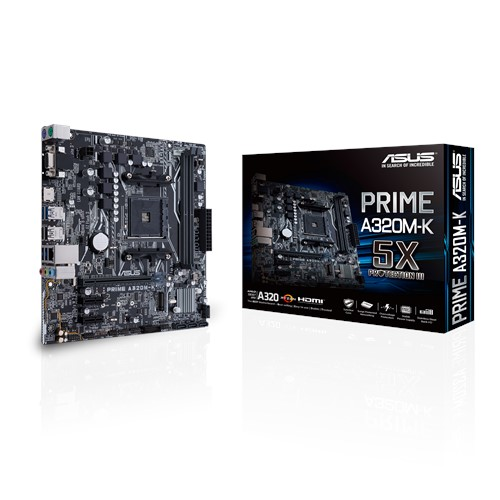 MB ASUS AMD PRIME A320M-K AM4 DDR4 32Gb M.2 HDMI SATA 6Gb USB 3.0+AMD RYZEN 3 3200G 3.6 UP 4.0GHz 4CORE 4THREAD VEGA 8 ,Desktop Mainboard