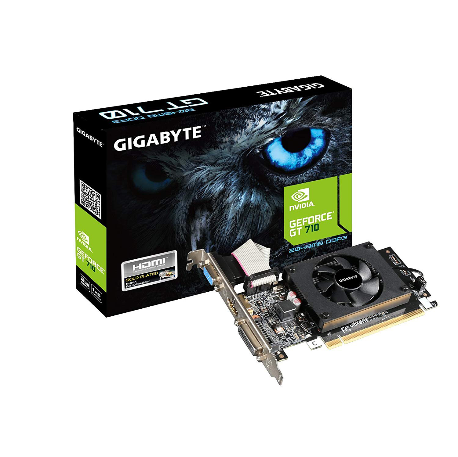 VGA GIGABYTE GT710 2GB DDR3 64BIT PCI-E 2.0 GV-GV-N710D5-2GL ,Desktop Graphic Card