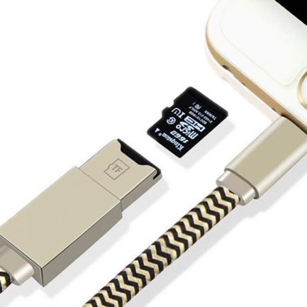 CABLE LIGHTNING + USB CARD READER FOR IPHONE AND IPAD I CONIX ,Cable