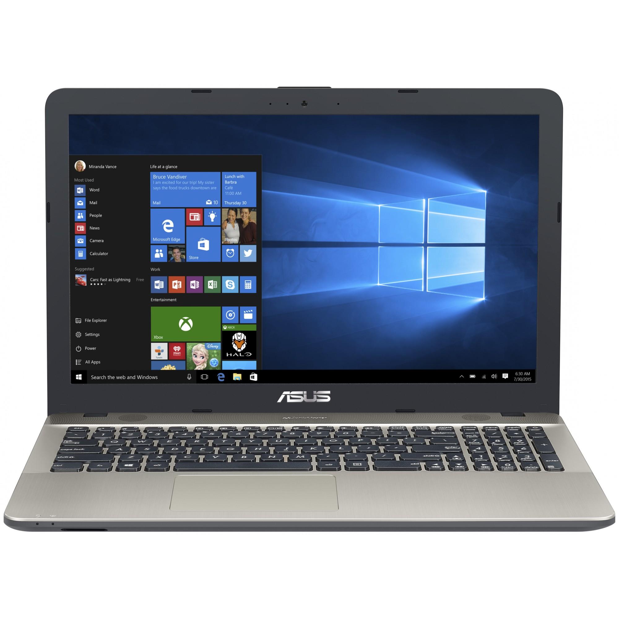 NOTEBOOK ASUS C-D X541SA-XO633 N30001.6GHz UP TO 2.6GHZ 2M 4G HD 1T VGA INTEL HD 15.6 BLACK ,Laptop Pc