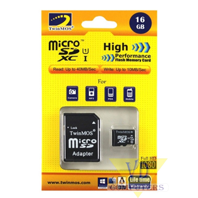 RAM MICRO SD 16GB FLASH CARD TWINMOS CLASS 6 ,Flash Card
