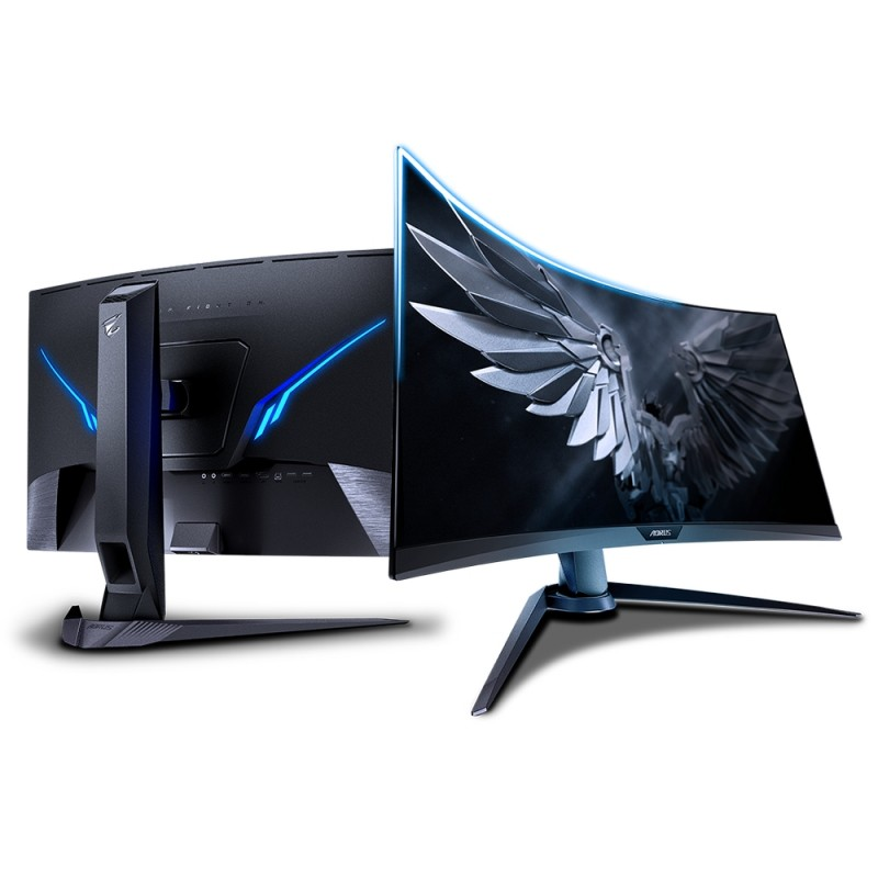 MONITOR FOR PC LED 27 GIGABYTE 165HZ AORUS CV27F27    CURVED 1500R FHD 1080p GAMING MONITOR  HDR FreeSync BACKLIGHT  RGB LED ,LED