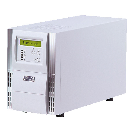 UPS VGD 700 VA/490W -POWERCOM ON LINE LCD DISPLAY بدون بطاريه ,UPS