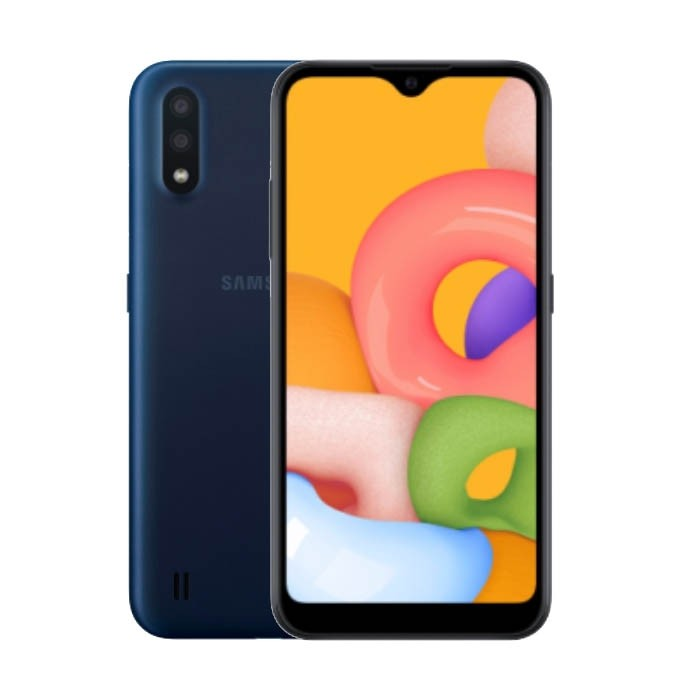 MOBILE PHONE SAMSUNG 5.7 OCTA CORE 1.9GHZ 2GB 16GB DUAL SIM GALAXY A01 - BLUE ,Android Smartphone