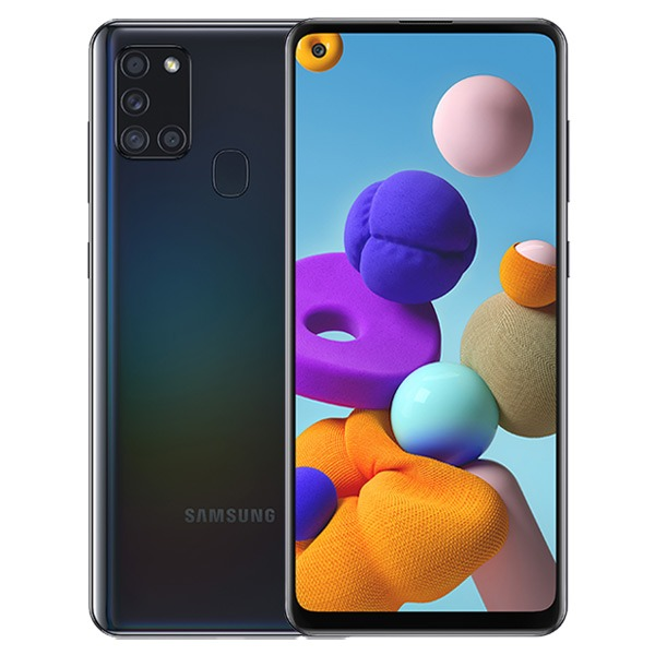 MOBILE PHONE SAMSUNG 6.5 OCTA CORE 2.0GHZ 4GB 64GB DUAL SIM GALAXY A21S - BLACK ,Android Smartphone