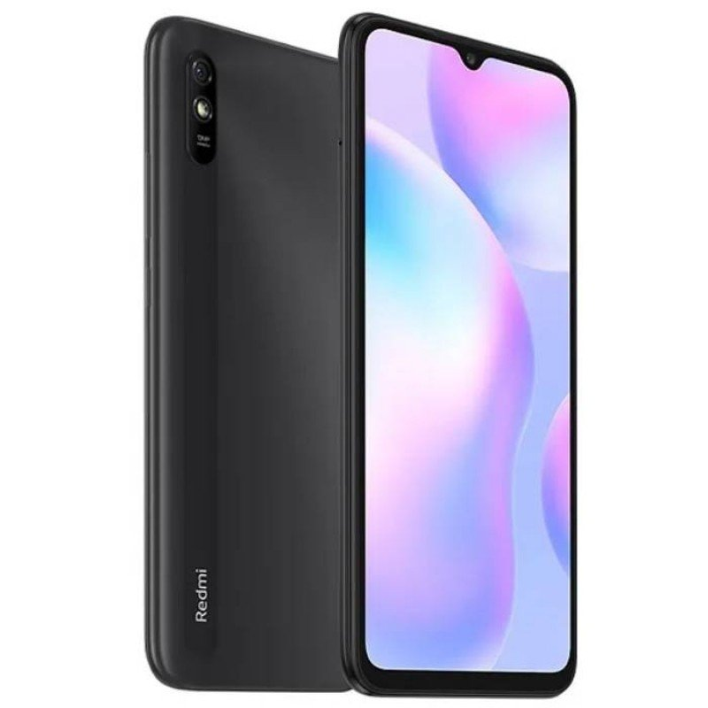MOBILE PHONE XIAOMI 6.53 OCTA CORE 2GHZ 2GB 32GB DUAL SIM REDMI 9A GRAY ,Android Smartphone