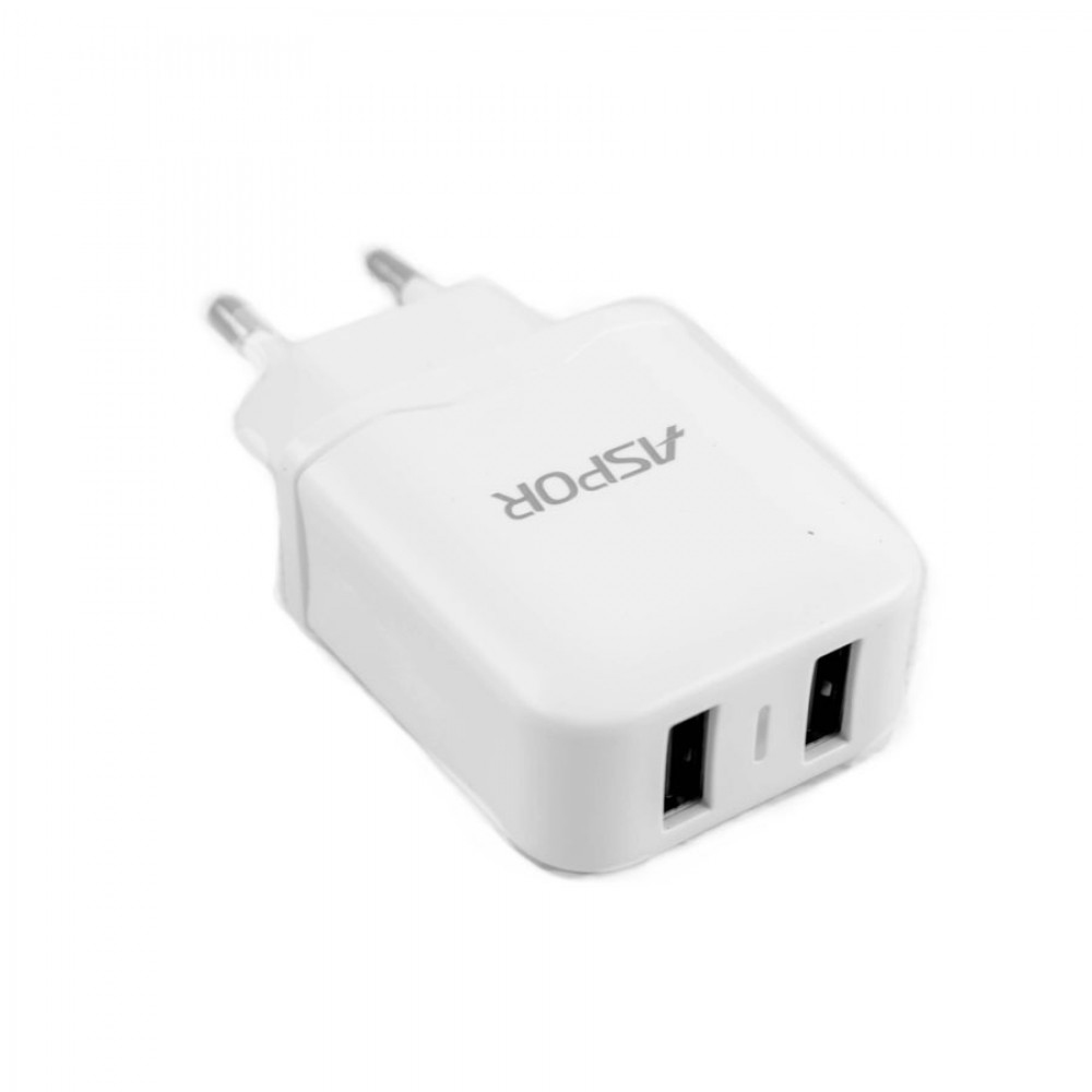 CHARGER DUAL USB FOR MOBILE&TAB ANDROID -ASPOR 