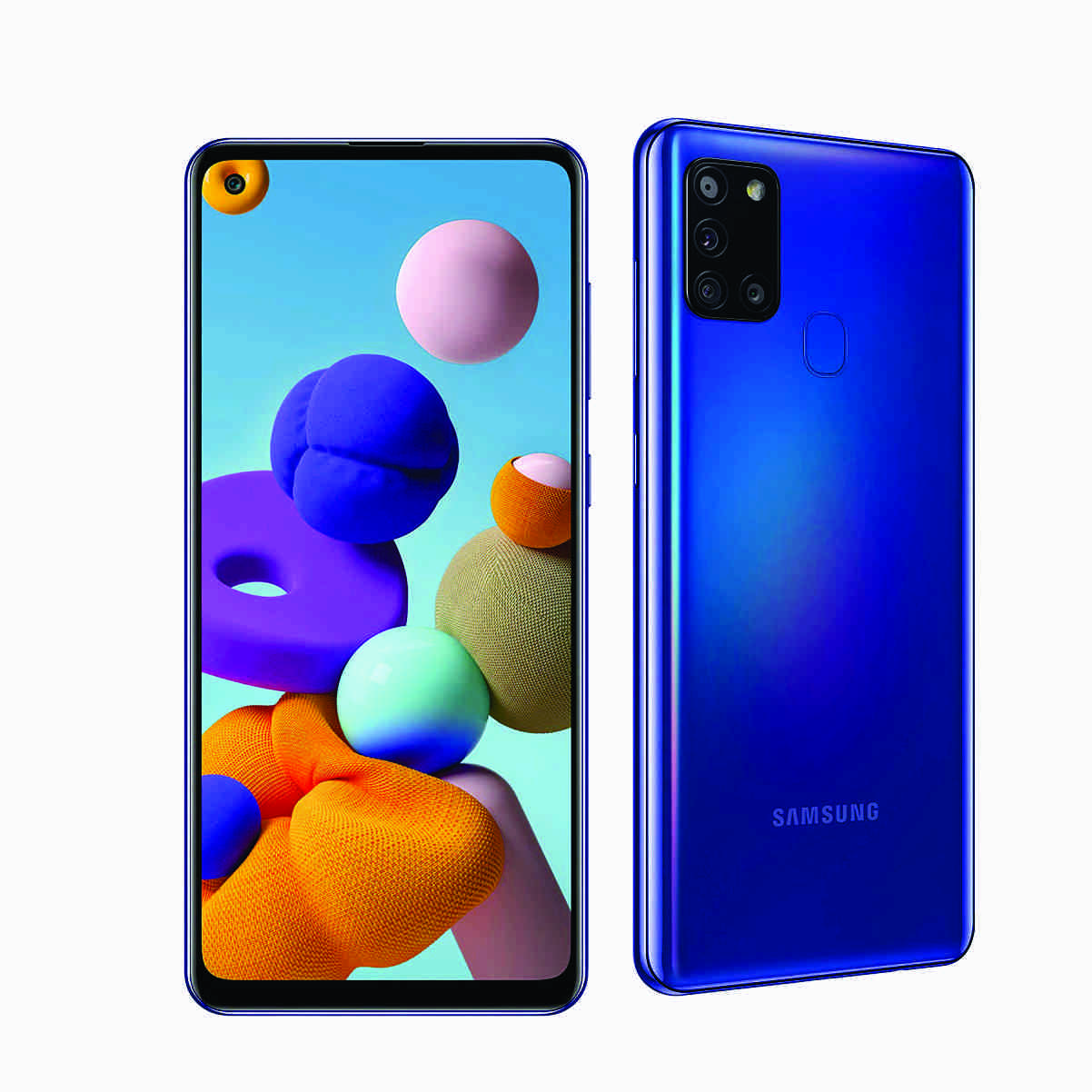 MOBILE PHONE SAMSUNG 6.5 OCTA CORE 2.0GHZ 4GB 64GB DUAL SIM GALAXY A21S - BLUE ,Android Smartphone