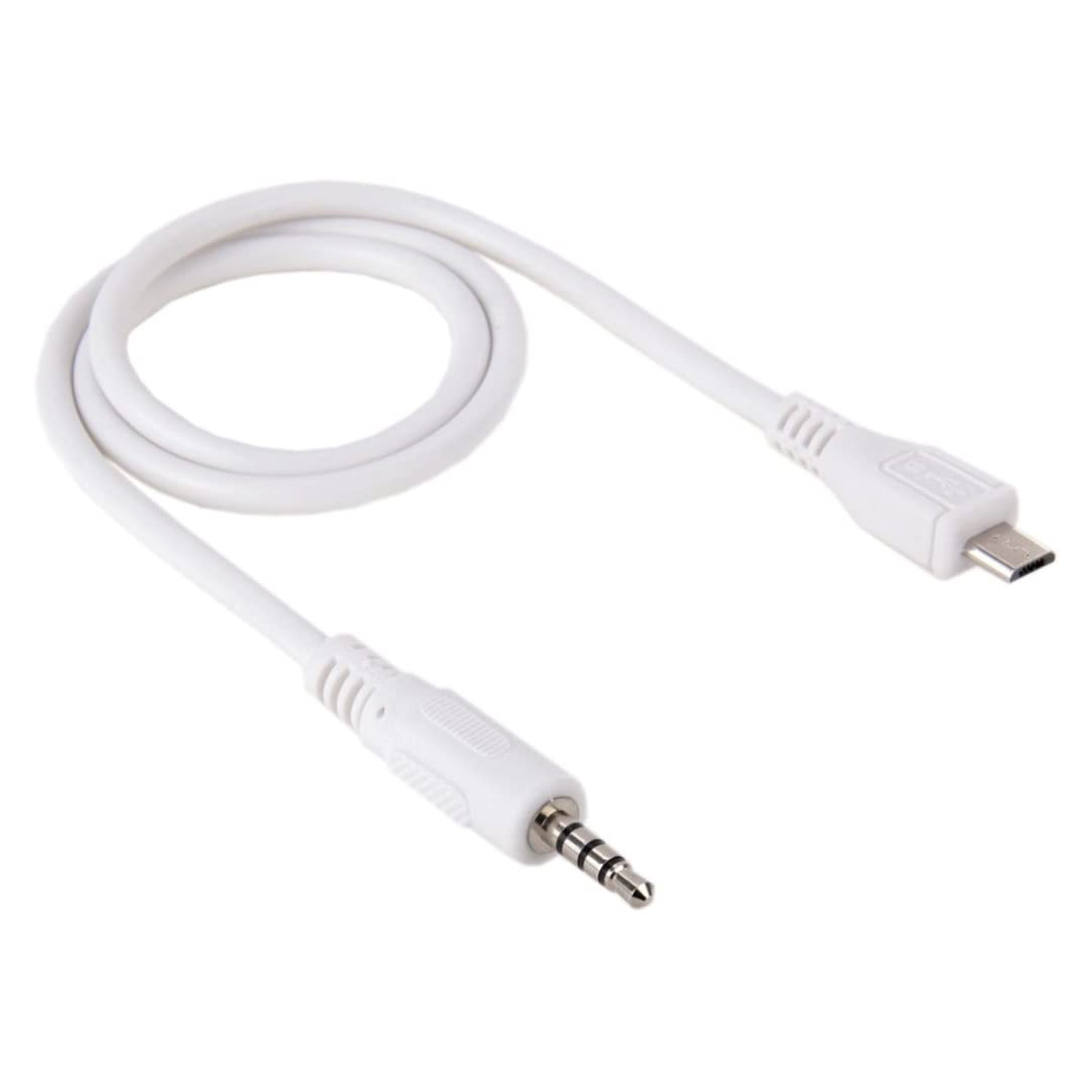 AUX AUDIO CABLE FROM MICRO TO AUX 3.5mm TRAY كبل من مايكرو الى اواكس ,Cable