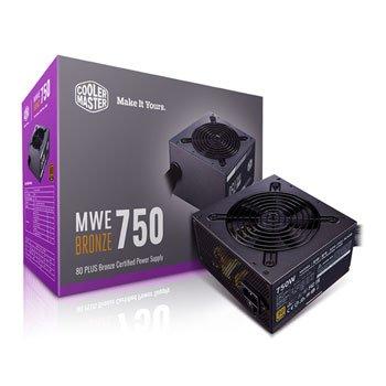 POWER SUPPLY COOLER MASTER MWE 750 BRONZE - V2 80 PLUS BRONZE MPE-7501-ACAAB ,Case & Power Supply
