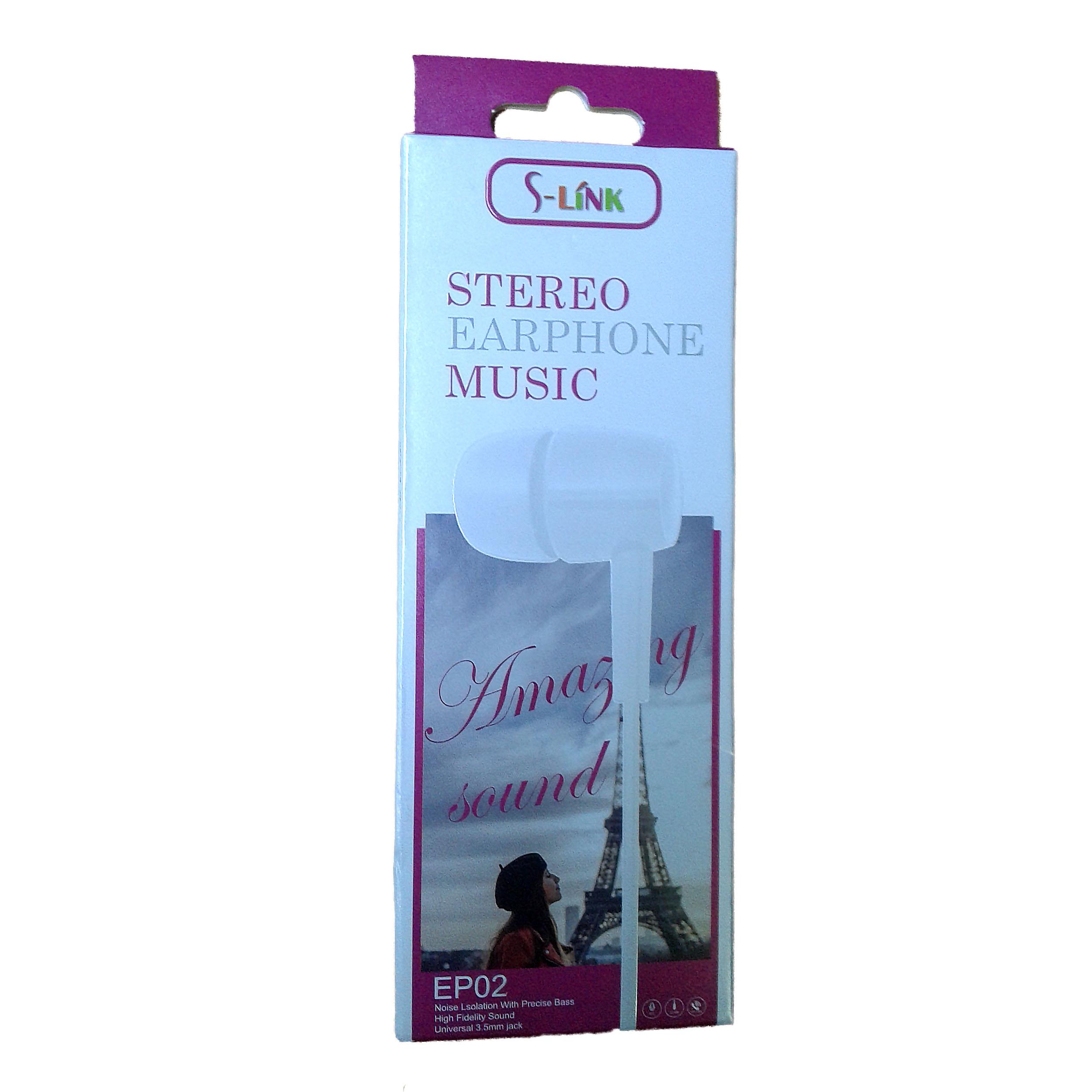 EARPHONE S-LINK FOR SMARTPHONE OR TAB-EP 01/02/03/06  ضغط ,Smartphones & Tab Headsets