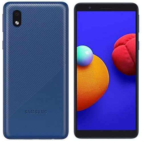 MOBILE PHONE SAMSUNG 5.3 QUAD CORE 1.5GHZ 1GB 16GB DUAL SIM GALAXY A01 CORE BLUE ,Android Smartphone