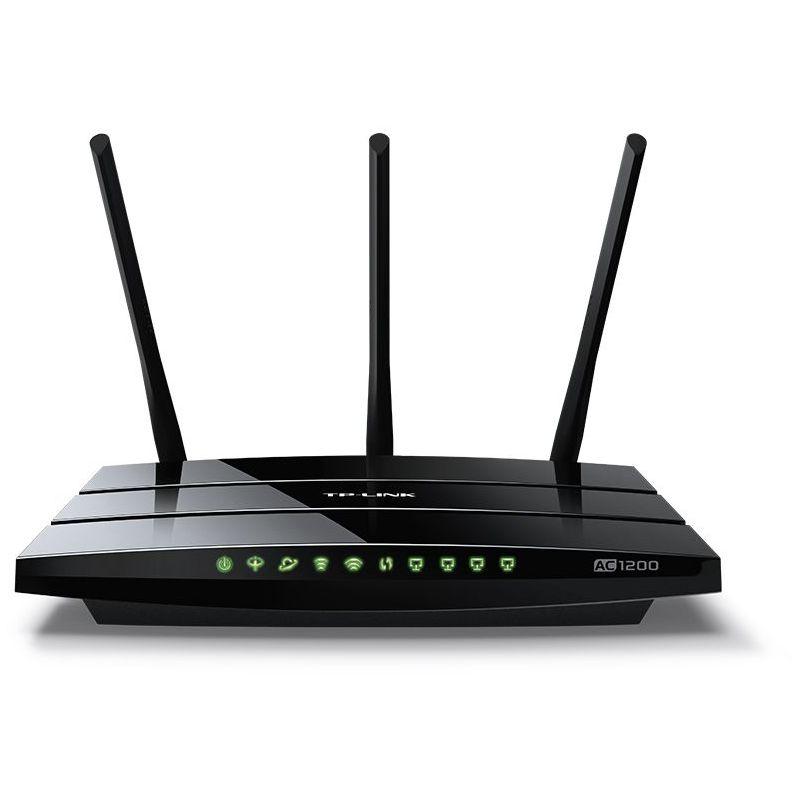 ADSL2 MODEM+ROUTER+3PORT GIGABIT+1USB2+ 1X GIGABIT WAN + ACCESSPOINT WIRELESS DUAL BAND-AC1200  + 2 ANTENNA TP-LINK-ARCHER VR400+FILTER BLACK ,ADSL Routers
