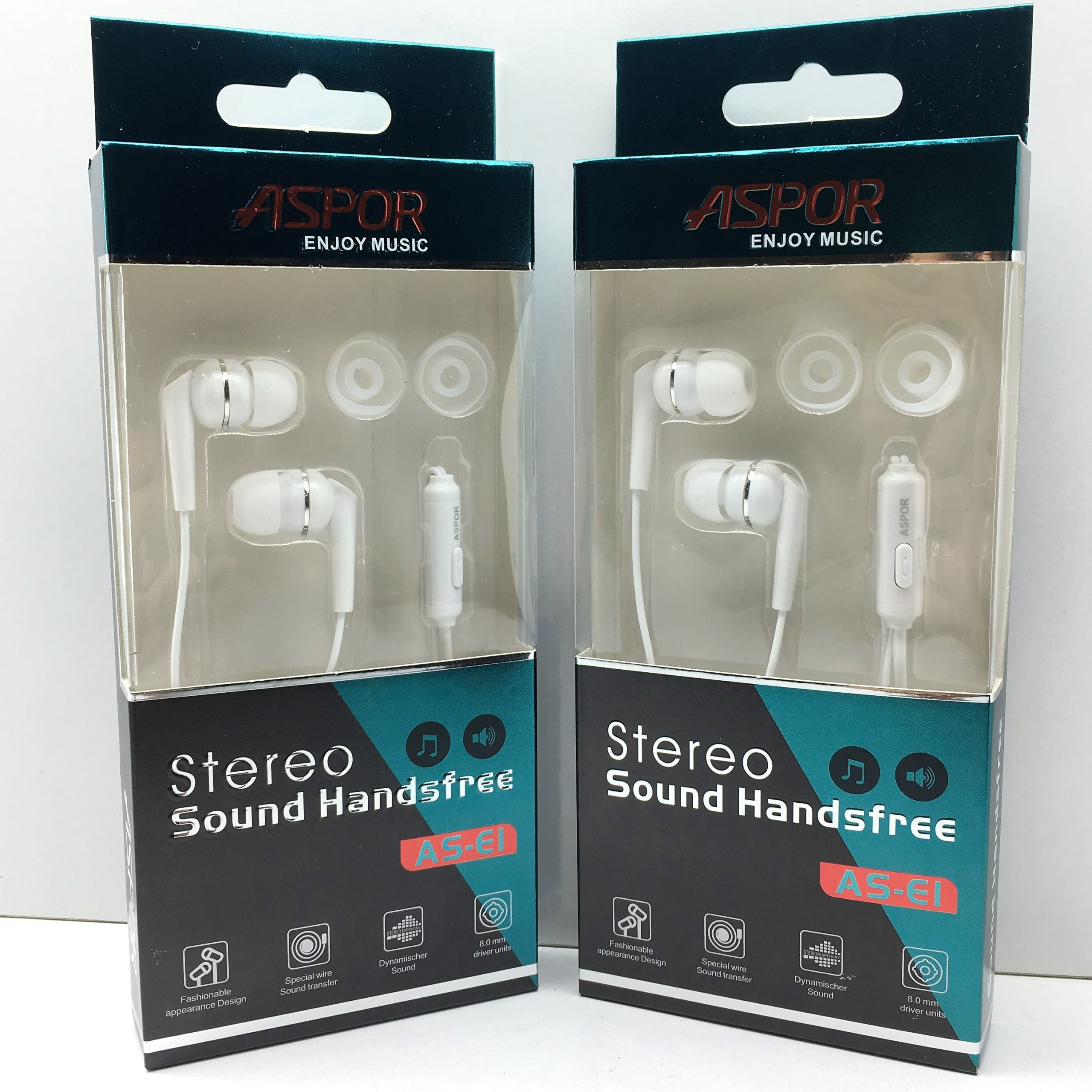 EARPHONE ASPOR FOR SMARTPHONE OR TAB COLOR AS-E1 ضغط ,Smartphones & Tab Headsets