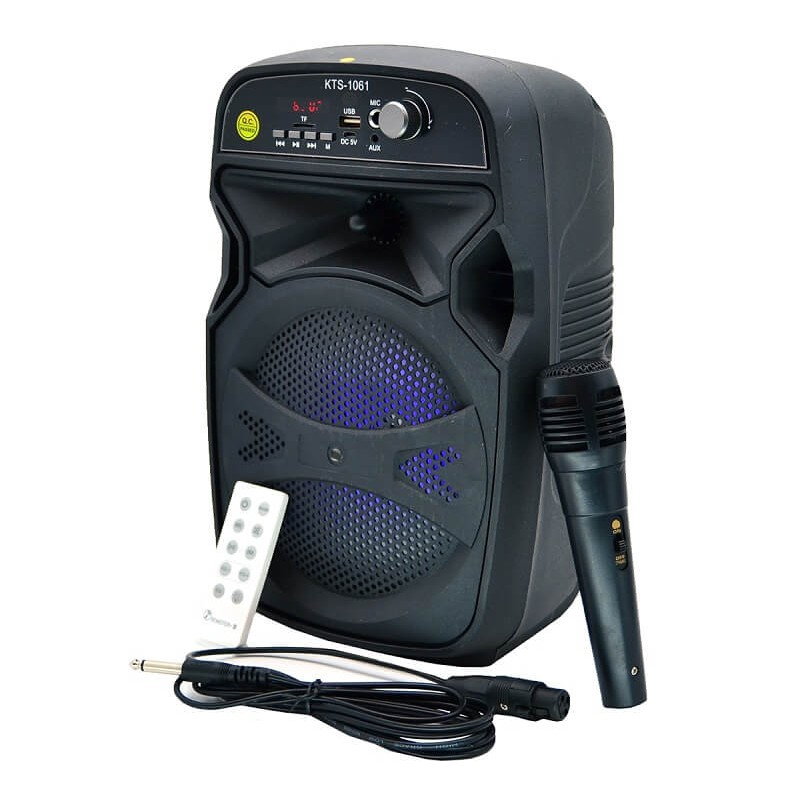 SPEAKER BLUETOOTH KTS-1061 FOR MP3 & MOBILE & FM & SD CARD USB & AUX & MIC & REMOTE ,Speakers
