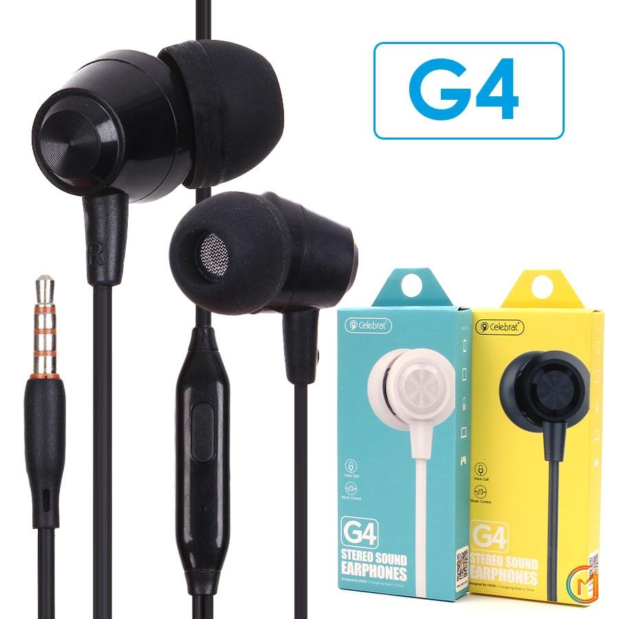 EARPHONE CELEBRAT HIGH QUALITY FOR SMARTPHONE OR TAB  G4 ضغط ,Smartphones & Tab Headsets