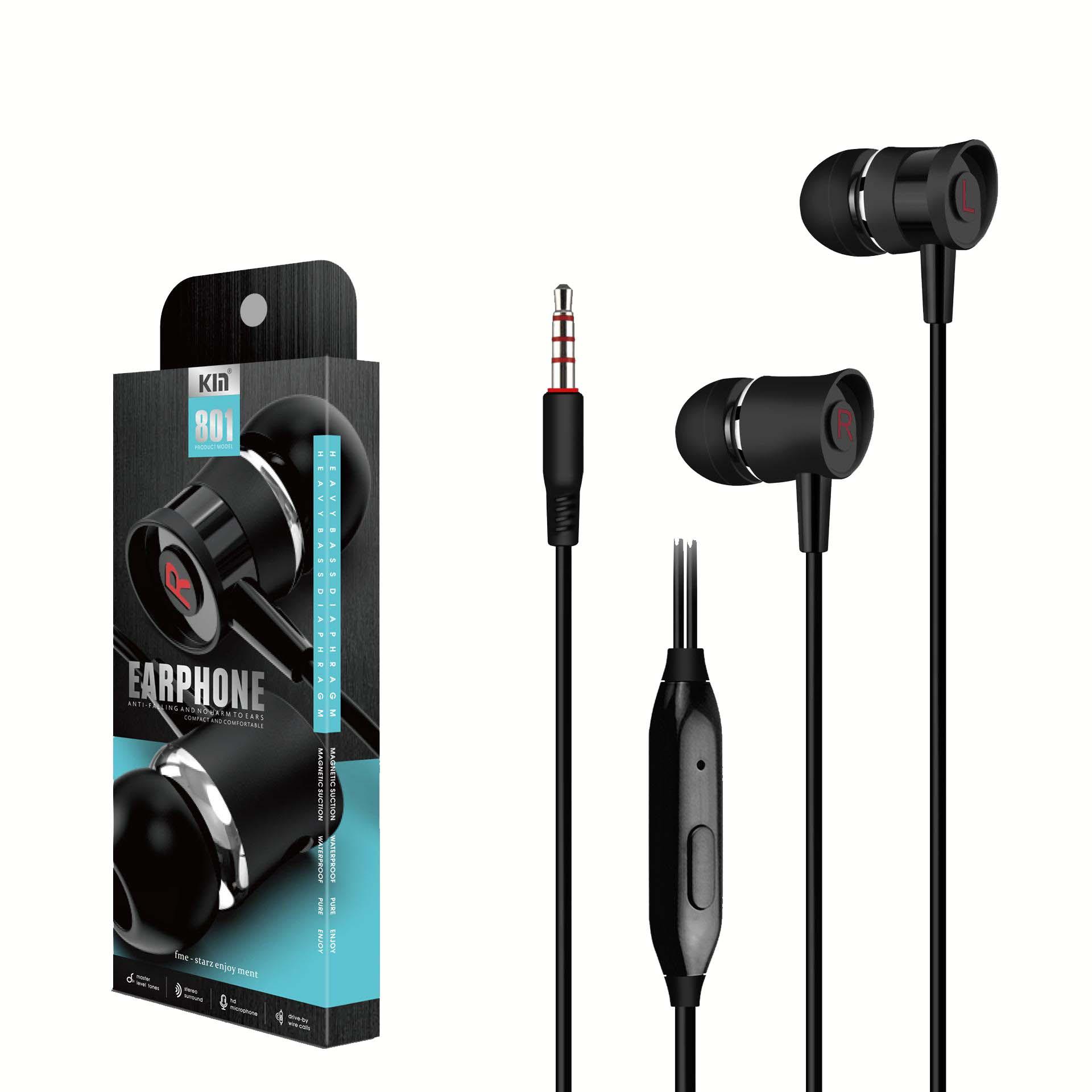 EARPHONE KIN FOR SMARTPHONE OR TAB COLOR 801 ضغط ,Smartphones & Tab Headsets
