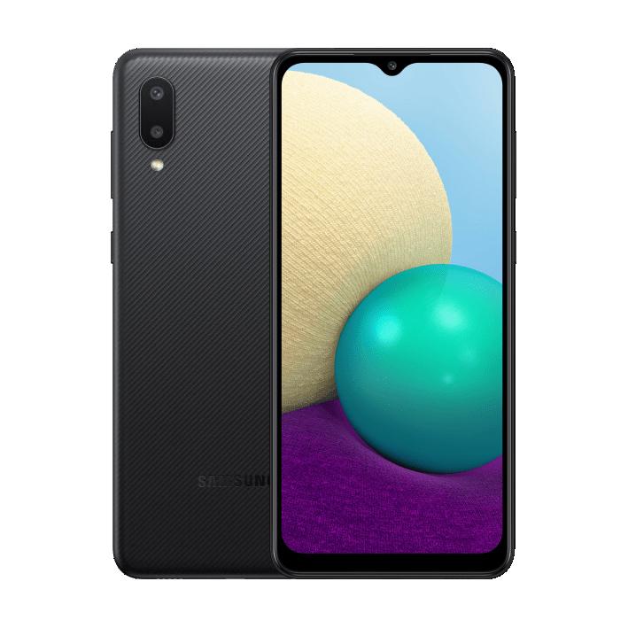 MOBILE PHONE SAMSUNG 6.5 QUAD CORE 1.5GHZ 3GB 32GB DUAL SIM GALAXY A02 BLACK ,Android Smartphone