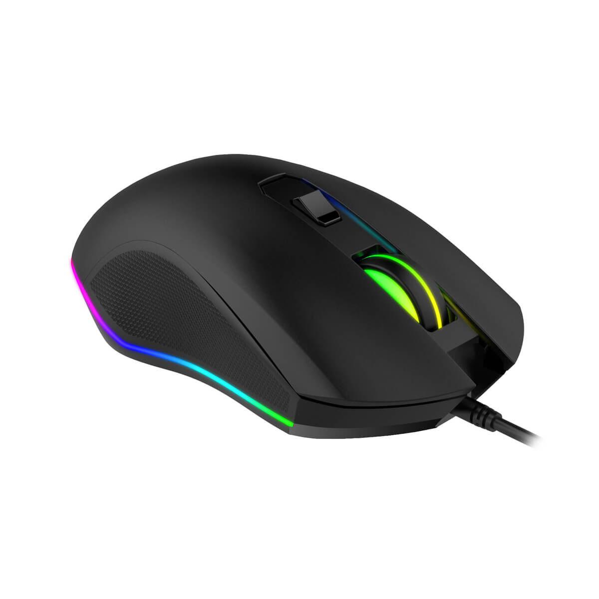 MOUSE GAMING HAVIT GAMENOTE MS804 RGB BACKLIT 2400DPI USB 7KEY ,Mouse
