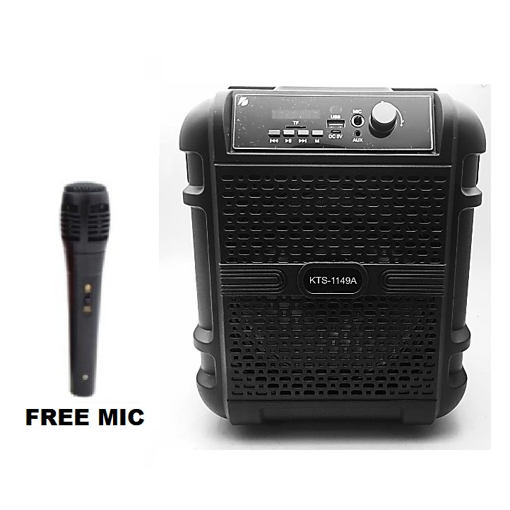 SPEAKER BLUETOOTH KTS-1149A FOR MP3 & MOBILE & FM & SD CARD USB & AUX & MIC ,Speakers