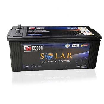 BATTERY DECOR SOLAR DSG1000 12V/100AH DEEP CYCLE  GEL ,Batteries