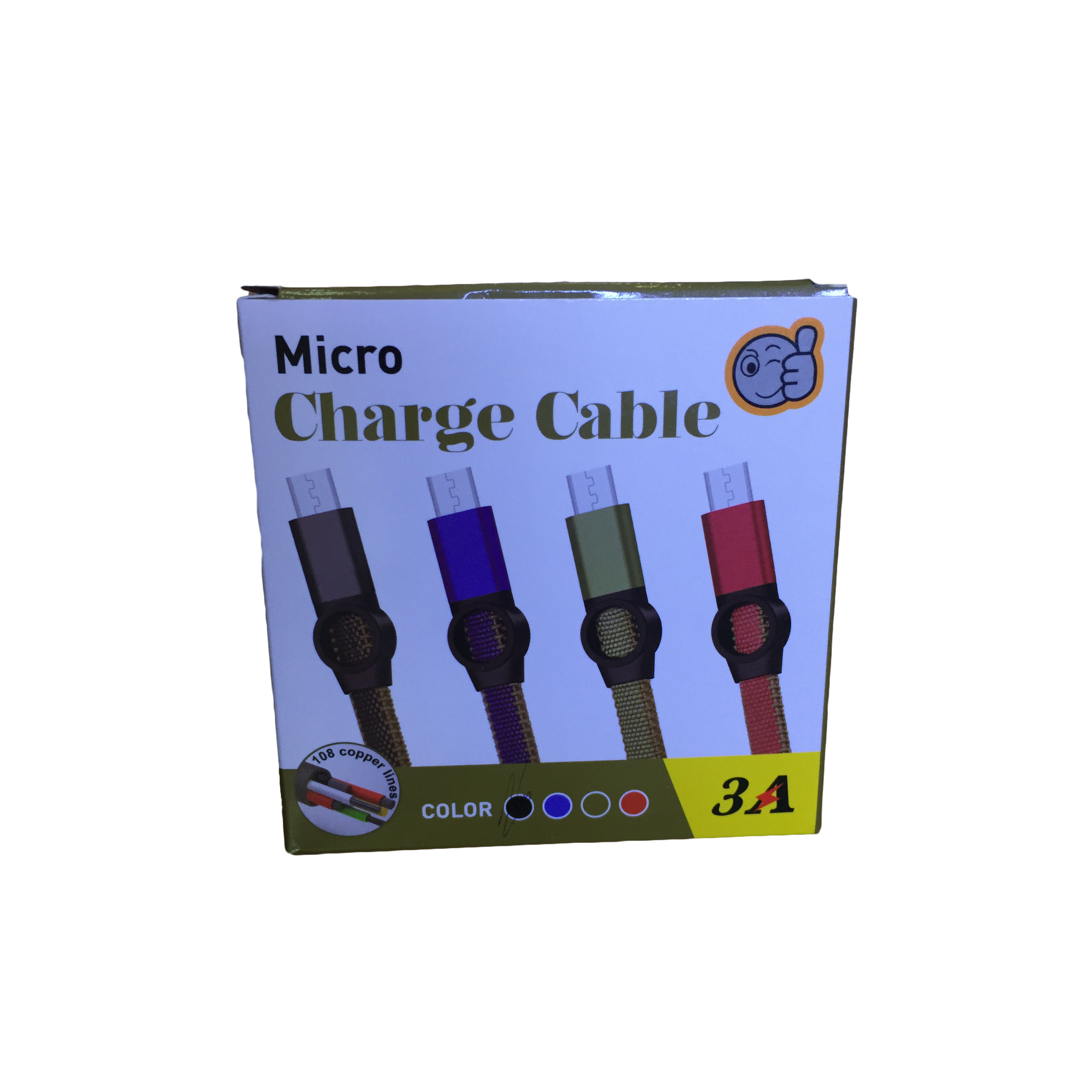 CABLE MICRO USB DATA & CHARGE FOR SMARTPHONE 3.0A A919 قماش جوده عاليه ,Other Smartphone Acc