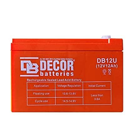 BATTERY DECOR DB12U 12V/12AH DEEP CYCLE LEAD ACID ,Batteries