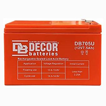 BATTERY DECOR DB705U 12V/7.5 AH DEEP CYCLE LEAD ACID ,Batteries