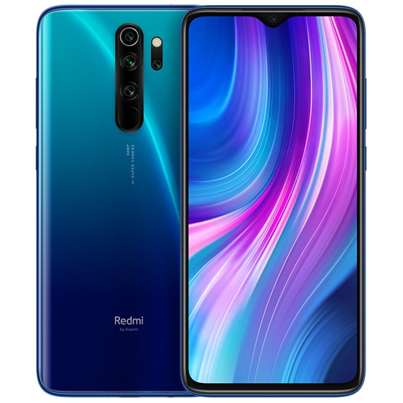 MOBILE PHONE XIAOMI 6.35 OCTA CORE 1.8GHZ 6GB 128GB DUAL SIM REDMI NOTE 8 PRO BLUE OB ,Android Smartphone