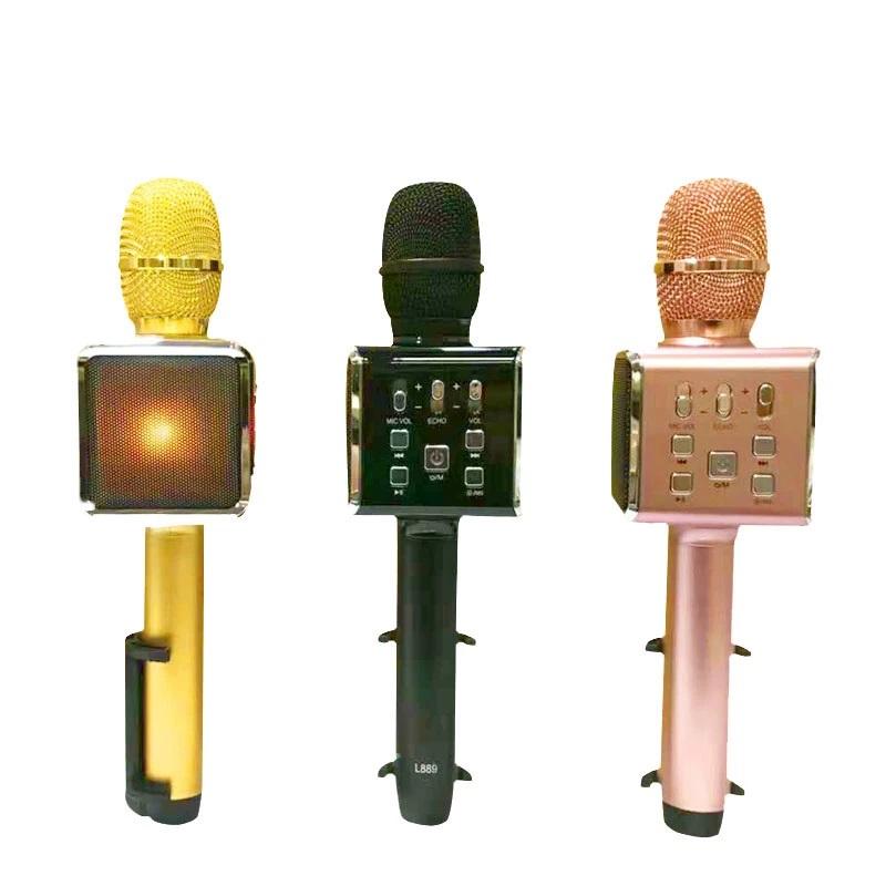 WIRELESS MICROPHONE & SPEAKER KAROKE HANDHELD KTV STEREO - USB & SD CARED & RECORD SONG - L889-COLOR   كاريوكي جودة عالية مع قاعدة جوال ,Speakers