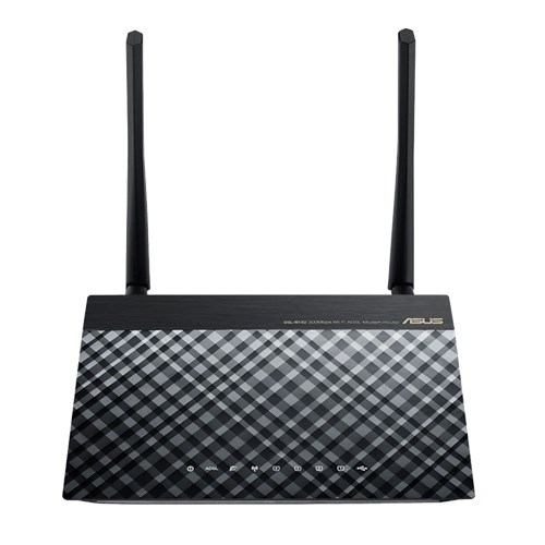 ADSL2 MODEM+ROUTER+4PORT+USB+ACCESSPOINT WIRELESS-N 300Mbps+2 ANTENNA ASUS DSL-N14U ,ADSL Routers