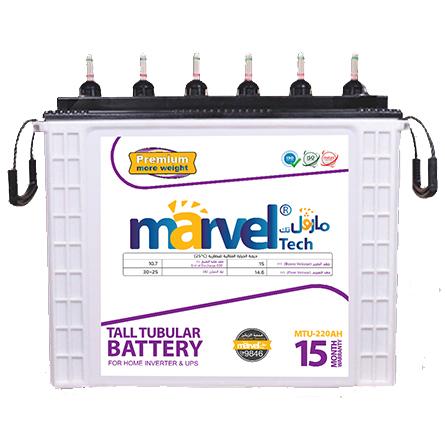 BATTERY MARVEL TUBULAR  MTU220 12V/220Aسائله هنديه   كفاله سنه ينصح بشحن البطاريه بشكل كامل قبل الاستخدام انبوبيه ,Batteries